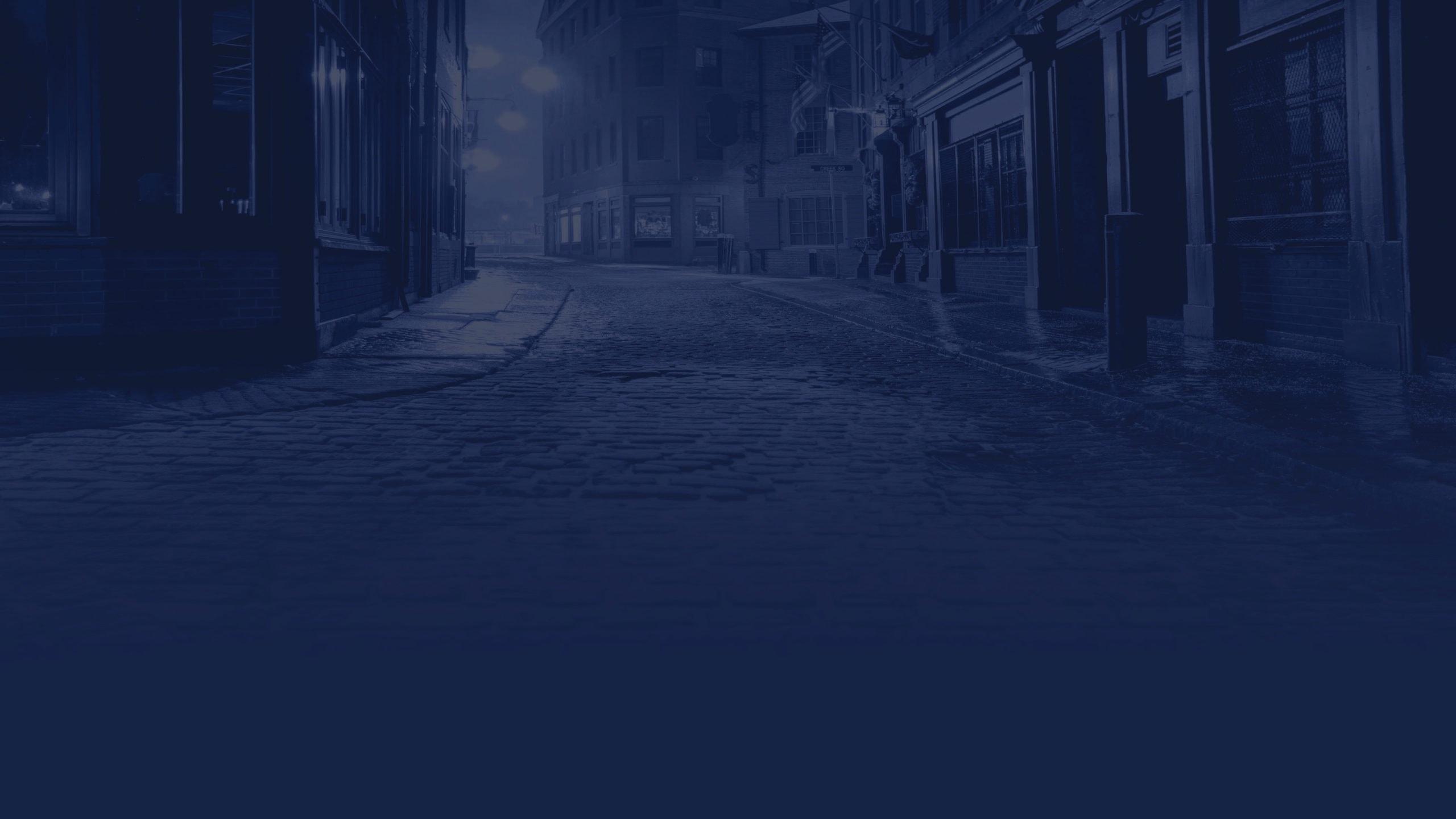 cobblestone walking area in blue